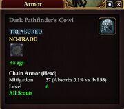 Dark Pathfinder's Cowl