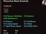 Dracurian Bone Earstuds