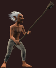 Dwarven Staff of Cleansing (Equipped)