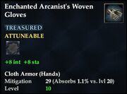 Enchanted Arcanist's Woven Gloves