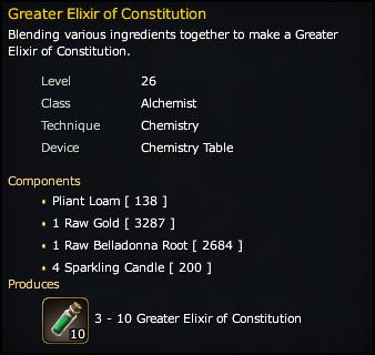 Greater Elixir of Constitution Recipe