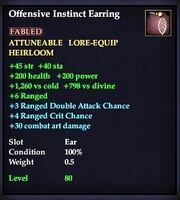 Offensive Instinct Earring
