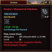 Sentry's Hammered Sabatons