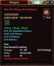 The Fist Wrap of Greatfrost