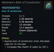 Workman's Elixir of Constitution