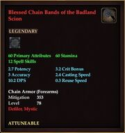 Blessed Chain Bands of the Badland Scion