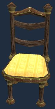 Gold eucalyptus dining chair (Visible)