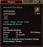 Hundred Fold Blade (Equip)