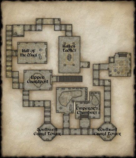 Map of Crushbone Keep Second Floor