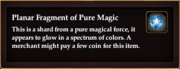 Planar Fragment of Pure Magic