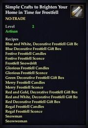 Simple Crafts to Brighten Your Home in Time for Frostfell