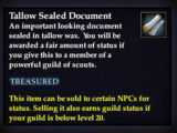 Tallow Sealed Document
