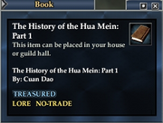 The History of the Hua Mein- Part 1