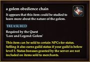 A golem obedience chain