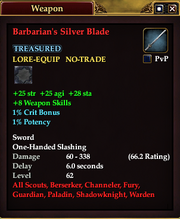 Barbarian's Silver Blade