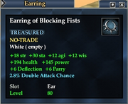 Earring of Blocking Fists