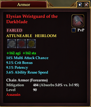 Elysian Wristguard of the Darkblade
