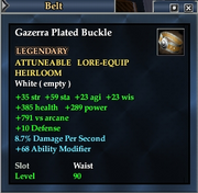 Gazerra Plated Buckle