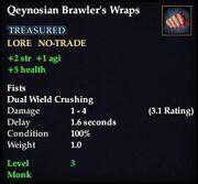 Qeynosian Brawler's Wraps