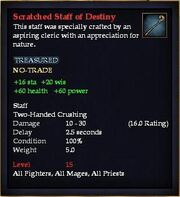 Scratched Staff of Destiny