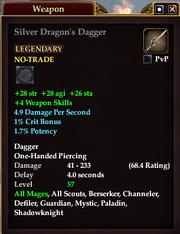 Silver Dragon's Dagger