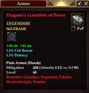 Dragoon's Gauntlets of Power