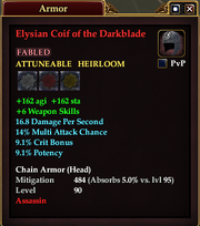 Elysian Coif of the Darkblade