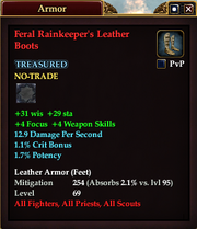 Feral Rainkeeper's Leather Boots