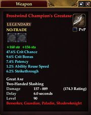 Frostwind Champion's Greataxe