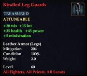 Kindled Leg Guards