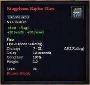 Kragploom Raptor Claw