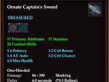 Ornate Captain's Sword