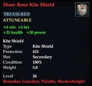 Sheer Bone Kite Shield