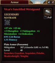 Vicar's Sanctified Wristguard