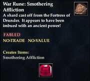 War Rune Smothering Afflicition