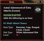 Astral Adornment of Extra Attacks (Lesser)