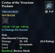 Cestus of the Veracious Predator
