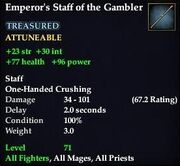 Emperor's Staff of the Gambler