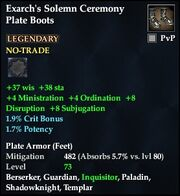Exarch's Solemn Ceremony Plate Boots