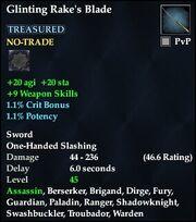 Glinting Rake's Blade