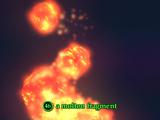 A molten fragment