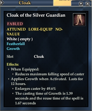 Cloak of the Silver Guardian | EverQuest 2 Wiki | FANDOM