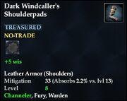 Dark Windcaller's Shoulderpads
