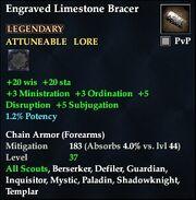 Engraved Limestone Bracer