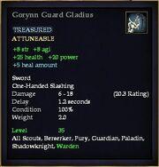 Gorynn Guard Gladius
