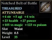 Notched Belt of Battle