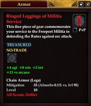 Ringed Leggings of Militia Service