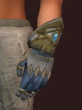 Vesspyr Warrior's Steel Gauntlets (Equipped)