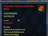 Carpentry Secrets of the Hua Mein