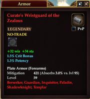 Curate's Wristguard of the Zealous